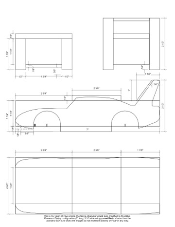 Pinewood derby times volume 9 issue 9 maximum velocity for Formula 1 pinewood derby car template