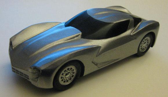 pinewood derby corvette template