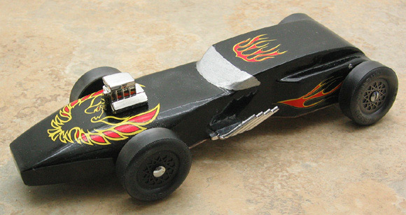 This is my son seth 39 s first car as a tiger his three for Formula 1 pinewood derby car template
