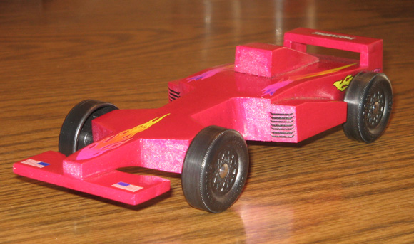 Pink phantom for Formula 1 pinewood derby car template