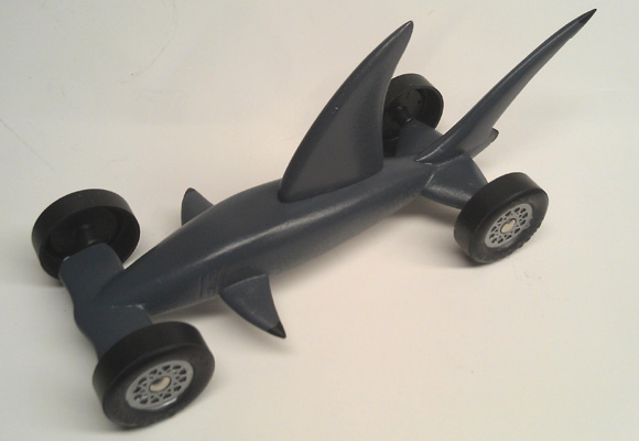 Pinewood derby times newsletter volume 13 issue 8 for Pinewood derby shark template