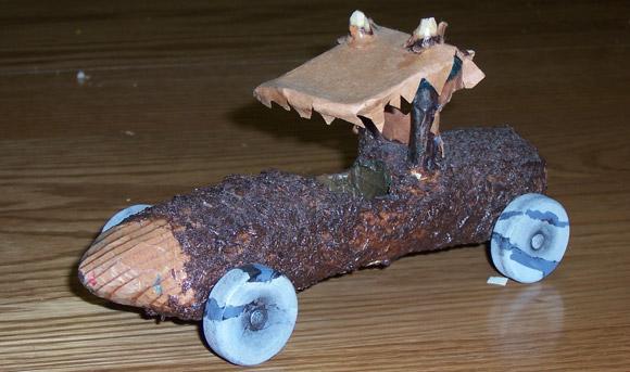 how to make flintstones car