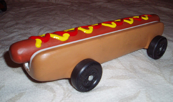 Hot Dog Pinewood Derby Car Template