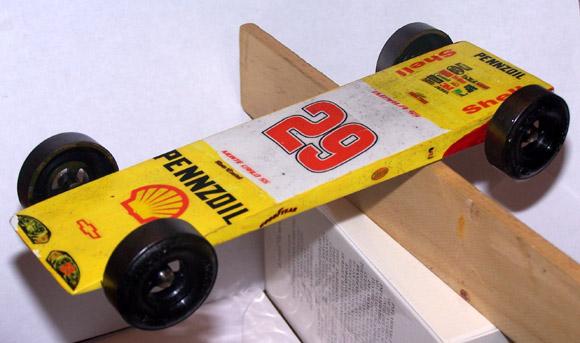 Pinewood Derby Car NASCAR Decal