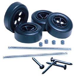 PineCar Wheels & Rod Axles