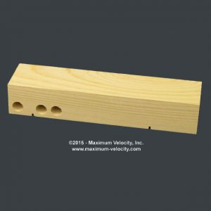 Pine Block Standard Slots - Weight Holes