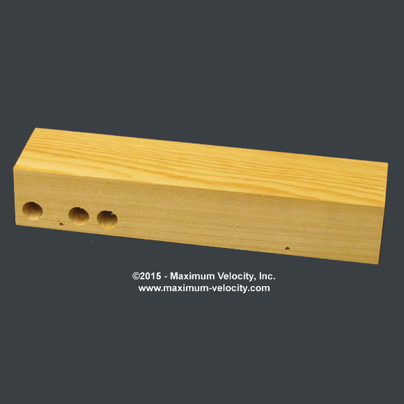 Pine Block Standard Axle Holes - Weight Holes
