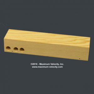 Pine Block Extended Axle Holes - Weight Holes