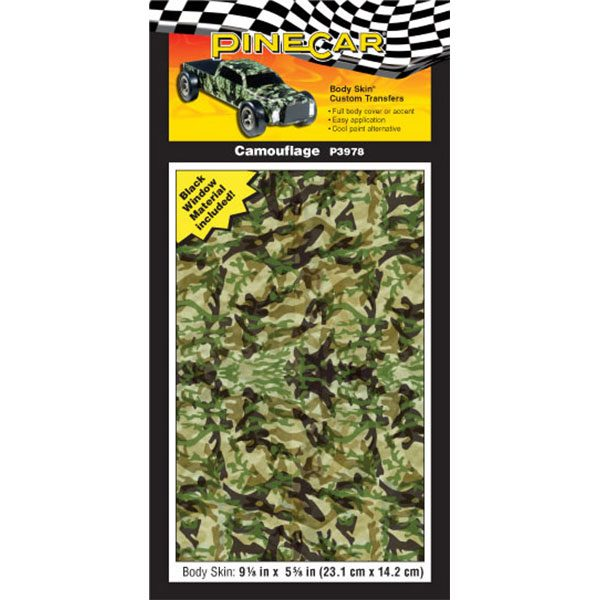 Camouflage Body Skin-Pinewood Derby