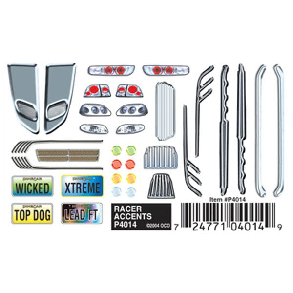 Racer Accents Dry Transfer Decals