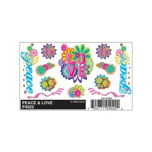 Peace & Love Dry Transfer Decals