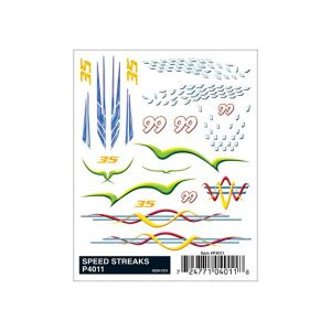 Speed Streaks Dry Transfer Decals