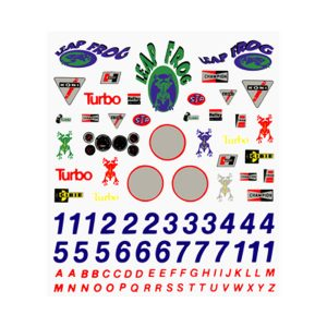 Sponsors & Numbers Dry Transfer Decal