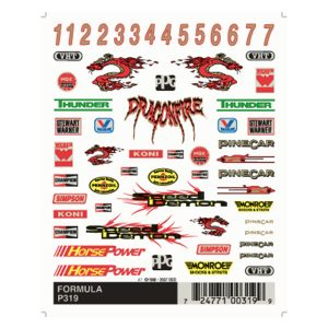 Formula Dry Transfer Decals
