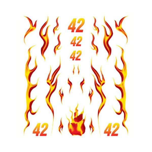Blazin' Flames Dry Transfer Decals