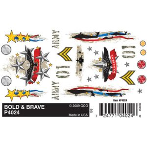 Bold & Brave Dry Transfer Decals