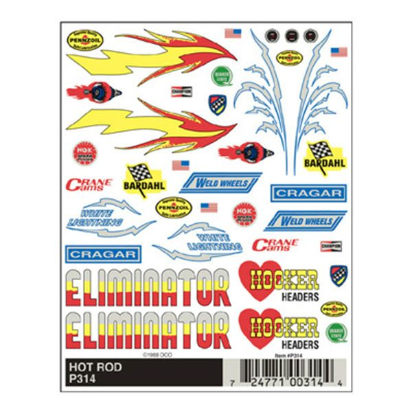 Hot Rod Dry Transfer Decals