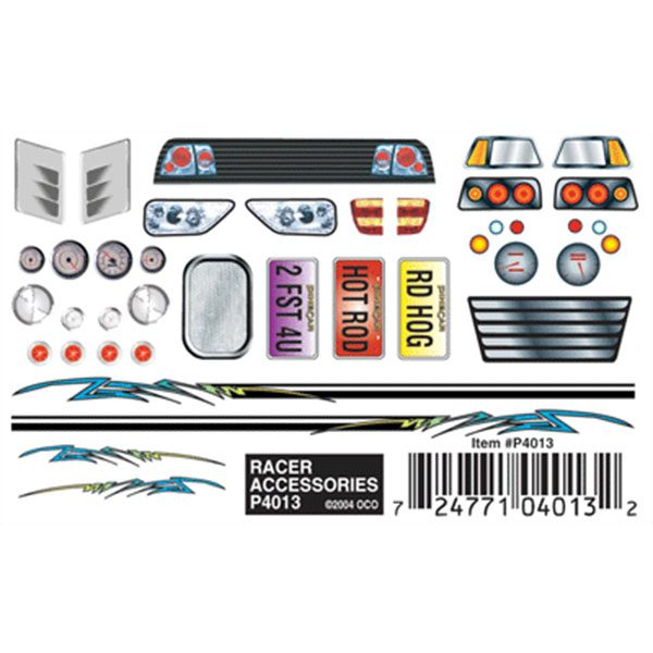Racer Accessories Dry Transfer Decals