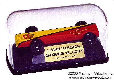 pinewood derby display case