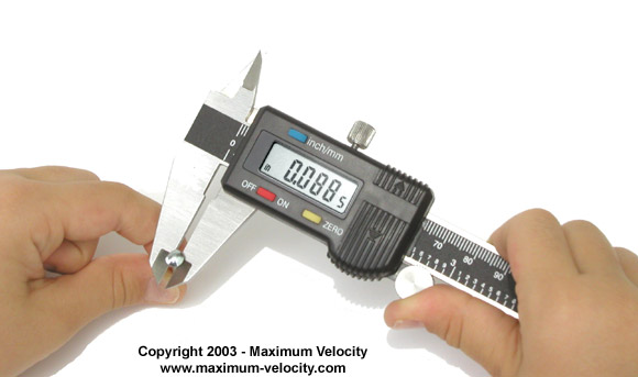 Digital Calipers For Pinewood Cars