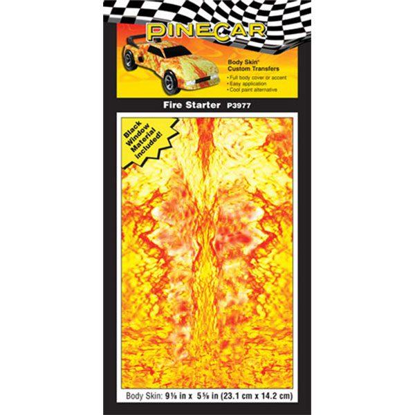 Fire Starter Body Skin-Pinewood Derby
