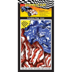 Freedom Flag Body Skin-Pinewood Derby