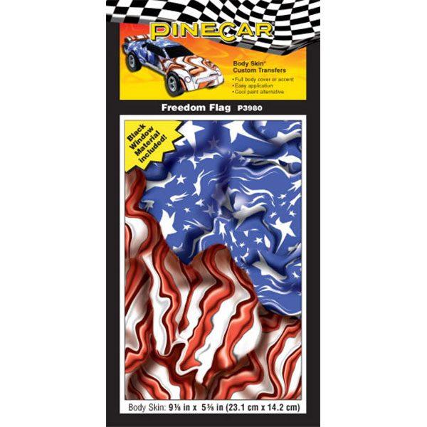 Freedom Flag Body Skin-Pinewood Derby