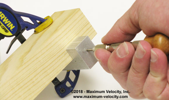 pinewood derby pin vise usage