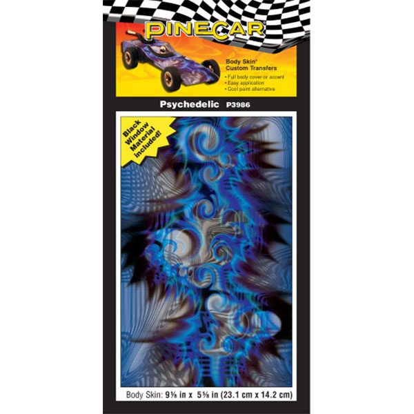 Psychedelic Body Skin-Pinewood Derby