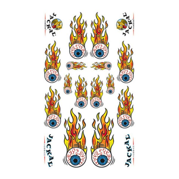 Eyeball Flambe Sticker Decals