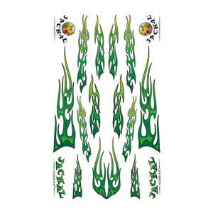 Goth Green Fire Sticker Decals