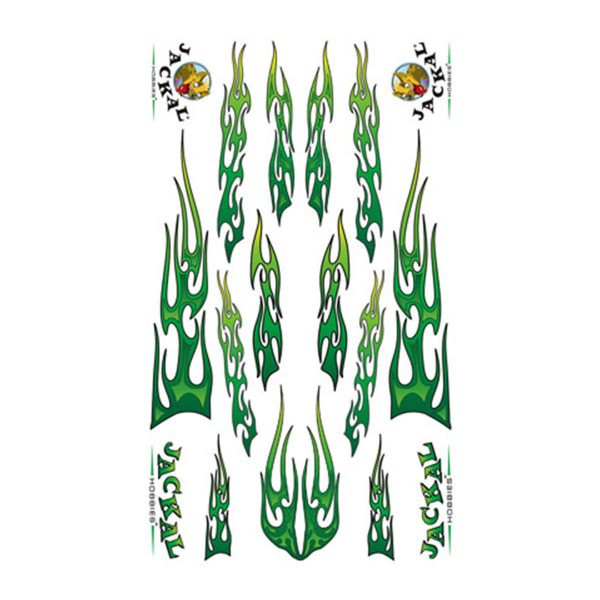 Goth Green Fire Sticker Decals