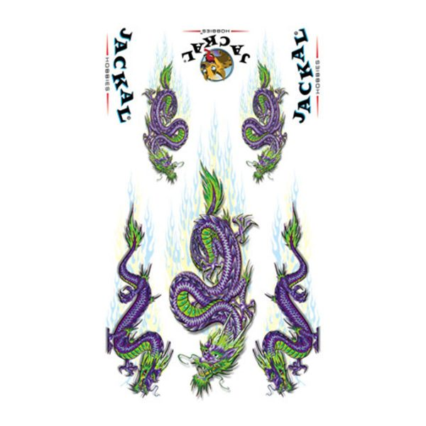 Purple Dragon Sticker Decals