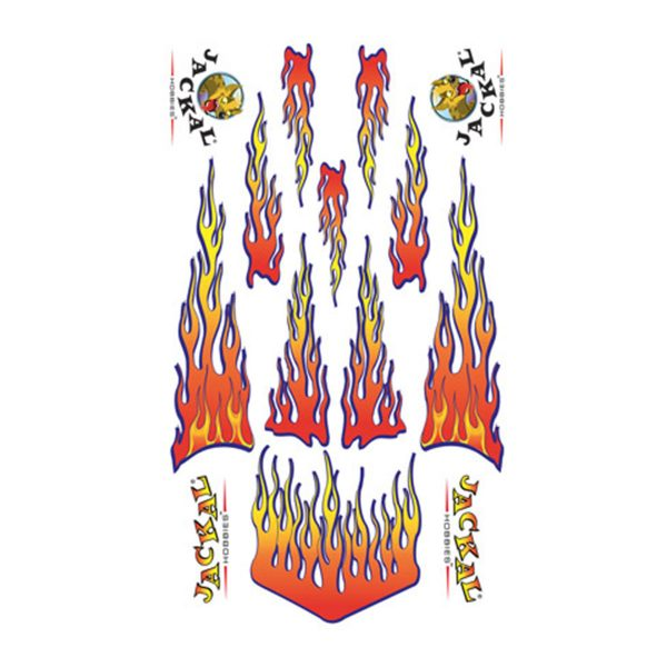 Flaming Pine Sticker Decals