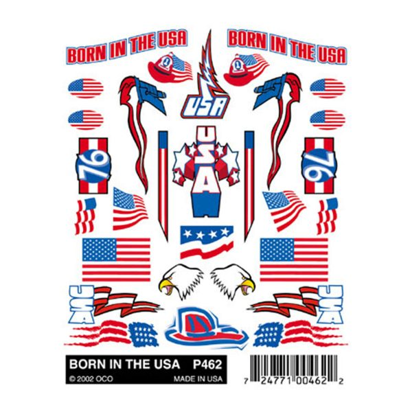 Born in the USA Sticker Decals