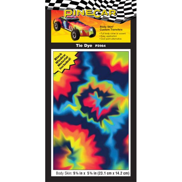 Tie Dye Body Skin-Pinewood Derby