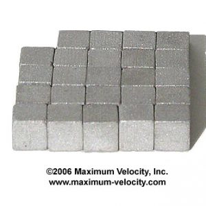 1/4 inch Tungsten Cubes-Pinewood Derby Weight
