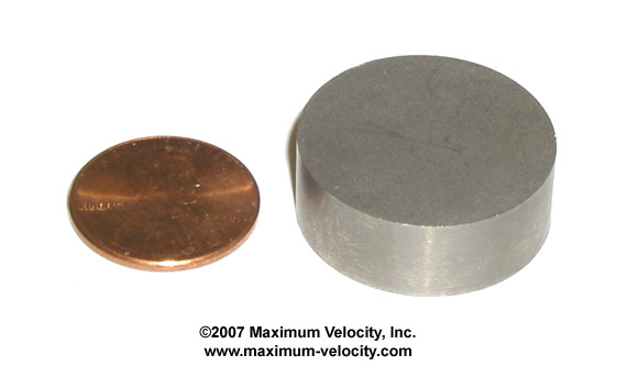 Solid Tungsten Round-Pinewood Weight
