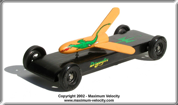 pinewood derby rocket car