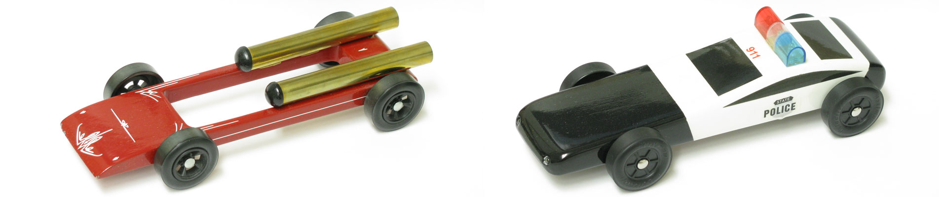 Pinewood Derby Speeder and Police Car Kits