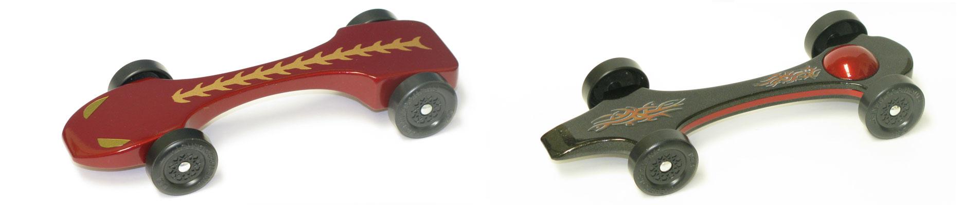 Raptor and Maxinator Pinewood Deby Car Kits