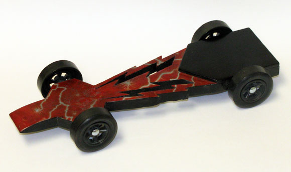 pinewood derby car for Tim