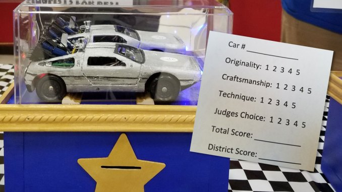 pinewood derby district ballot box