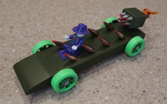 pinewood derby rocket launcher car