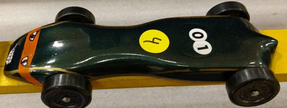 pinewood derby car tortoise