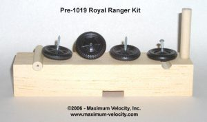 pre-2019 Royal Ranger Pinewood Derby Kit